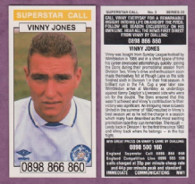 Leeds United Vinny Jones Wales 2